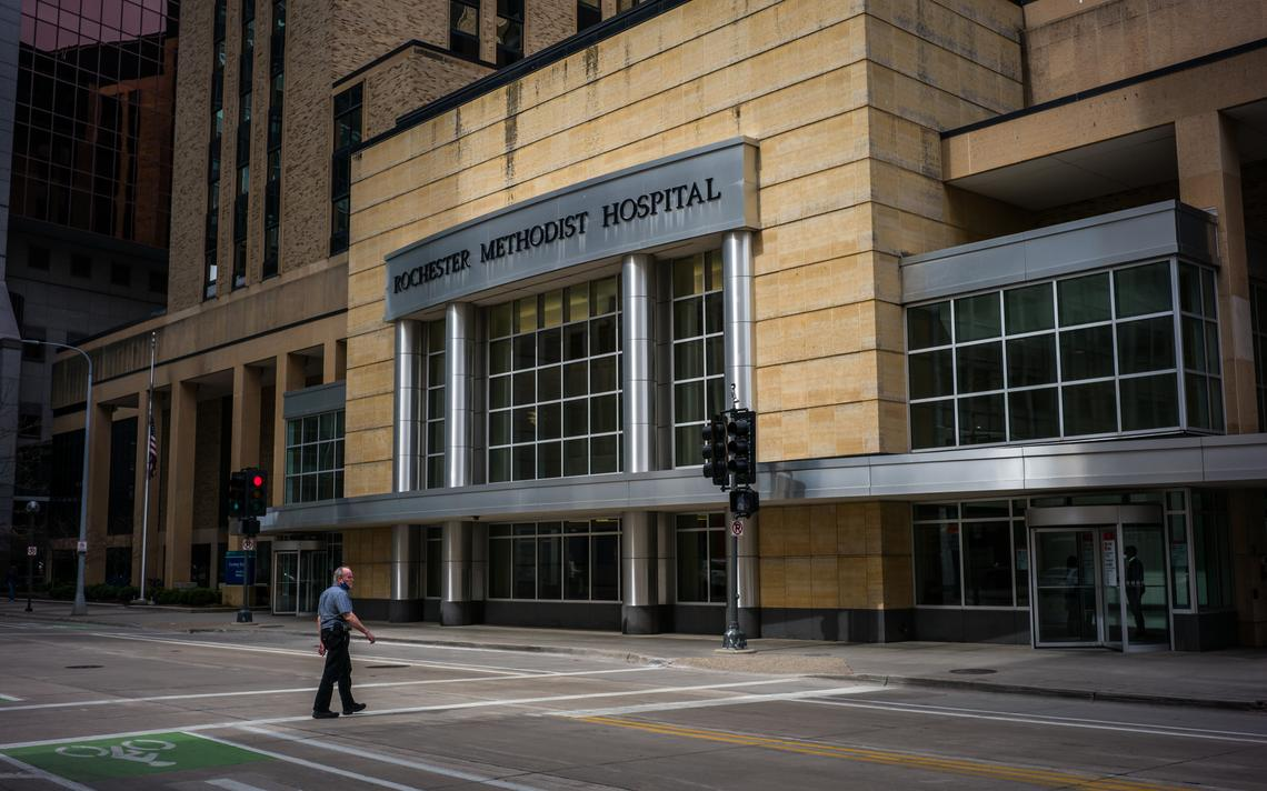 Mayo Clinic's Methodist Campus Monday, March 22, 2021, in downtown Rochester. (Joe Ahlquist / jahlquist@postbulletin.com)